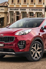 Preview iPhone wallpaper Kia Sportage red color car
