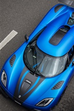 Koenigsegg Agera R blue supercar top view