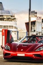 미리보기 iPhone 배경 화면 코닉 세그 Agera R 빨간색 초차, 날개, 독