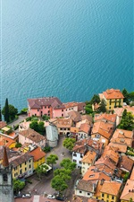 Preview iPhone wallpaper Lake Como, Varenna, Italy, houses