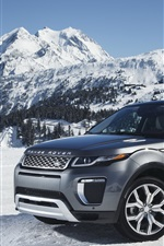 Preview iPhone wallpaper Land Rover Range Rover gray SUV in snow winter