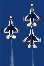 Preview iPhone wallpaper Many aircraft, fighter flight, air show