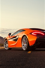 Preview iPhone wallpaper McLaren 570S orange supercar back view