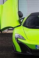 McLaren 675LT green supercar front view