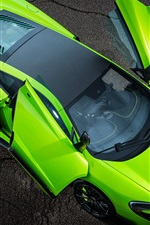 McLaren 675LT green supercar wings