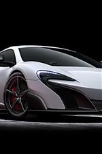 McLaren 675LT white supercar