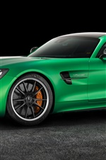 Mercedes-Benz AMG GT3 C190 green supercar side view