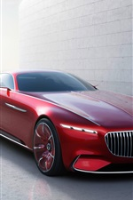 Preview iPhone wallpaper Mercedes-Benz Maybach 6 red color car