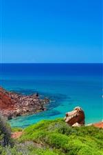 Preview iPhone wallpaper Minorque, sea, coast, island, Spain