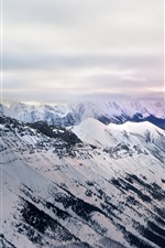 Preview iPhone wallpaper Mount Assiniboine Provincial Park, Edgewater, Canada, mountains, snow