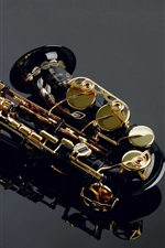 Preview iPhone wallpaper Musical instruments, saxophone