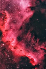 Preview iPhone wallpaper North America nebula, beautiful space, star, purple style, universe