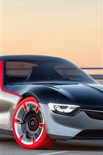 Preview iPhone wallpaper Opel GT concept supercar front view