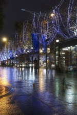 Preview iPhone wallpaper Paris night street, lights, France