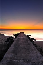 Preview iPhone wallpaper Pier, coast, beach, sunset, sea