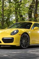 Porsche 911 Turbo Coupe yellow supercar