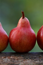 Red pears, fruit close-up
