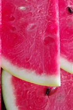 Preview iPhone wallpaper Red watermelon slice, delicious summer fruit