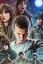 Preview iPhone wallpaper Stranger Things TV series 2016