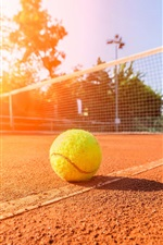 Preview iPhone wallpaper Sunny day, summer, tennis, stadium, ground