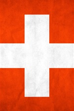 Preview iPhone wallpaper Switzerland flag