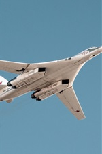 Preview iPhone wallpaper Tu-160 supersonic strategic bomber