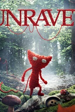 Preview iPhone wallpaper Unravel, video game, wool
