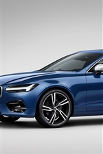 Volvo S90 blue car side view