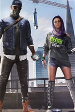 Preview iPhone wallpaper Watch Dogs 2, Xbox games