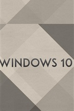 Windows 10 logotipo, fundo simples