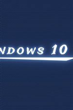 Windows 10 luz branca, fundo azul