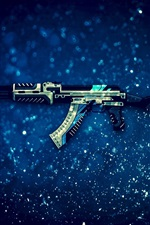 Preview iPhone wallpaper AK-47 assault rifle, CS: GO, PC game
