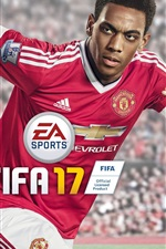 Preview iPhone wallpaper Anthony Martial, FIFA 17
