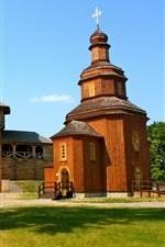 Preview iPhone wallpaper Baturyn citadel, Hetman's capital, Church, Ukraine