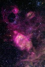 Preview iPhone wallpaper Beautiful space, universe, stars, purple style