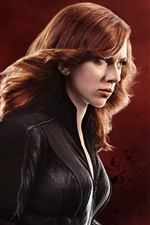 Preview iPhone wallpaper Black Widow, Scarlett Johansson in Captain America 3
