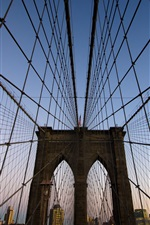 Preview iPhone wallpaper Brooklyn Bridge in New York, USA