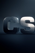 Preview iPhone wallpaper CS: GO, 3D logo
