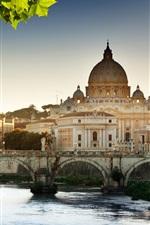 미리보기 iPhone 배경 화면 성당, 강, 다리, 바티칸, 로마, 이탈리아