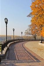 Preview iPhone wallpaper Chernigov, Ukraine, autumn park, trees, cannon