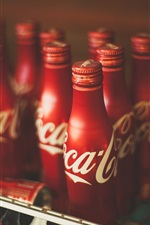 Preview iPhone wallpaper Coca Cola drinks, bottles