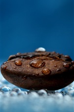 Preview iPhone wallpaper Coffee bean, water drops