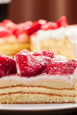 Preview iPhone wallpaper Delicious dessert, sweet, cream cake, strawberry