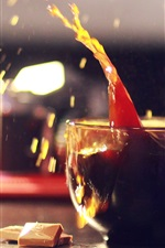 Preview iPhone wallpaper Delicious drinks, mug, coffee, water droplets