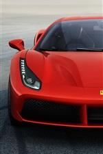 미리보기 iPhone 배경 화면 페라리 488 GTB 빨간색 초차 전면보기
