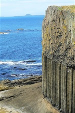 Preview iPhone wallpaper Fingal's Cave, cliff, sea