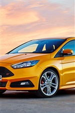 Preview iPhone wallpaper Ford Focus orange car