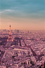 Preview iPhone wallpaper France, Paris, city night, Eiffel Tower, street, lights