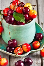 Preview iPhone wallpaper Fresh cherries, fruit photography