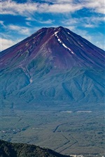 Preview iPhone wallpaper Fuji mountain, volcano, Japan nature landscape